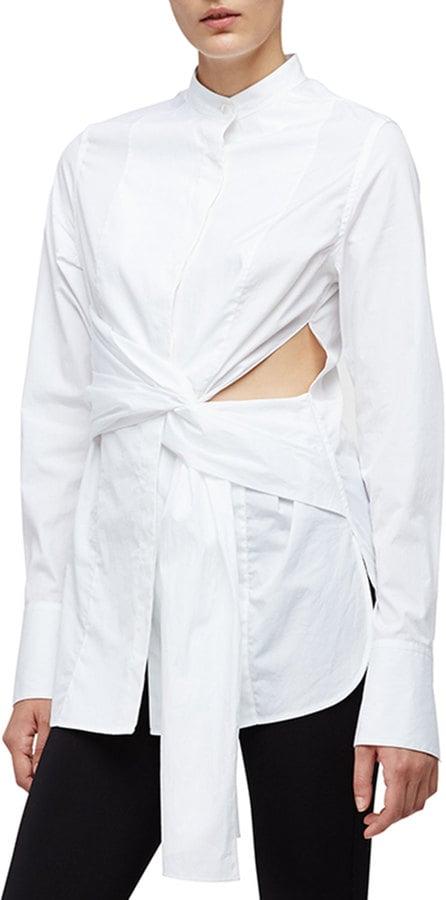 3.1 Phillip Lim Long-Sleeve Cotton Side-Slit Blouse ($375)