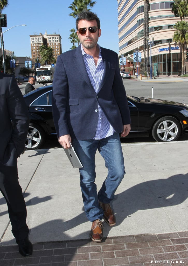 Ben Affleck stepped out of his car and headed into the TED, Technology, Entertainment and Design, conference in Long Beach today. He wasn't the only star spotted at the annual meeting since Reese Witherspoon also made an appearance yesterday. Ben was fresh faced to attend the event after shaving his beard immediately following the Oscars. Ben had apparently been letting his facial hair grow out of superstition during award season, and it looks like his method worked since he took home the Academy's highest honor of best picture for Argo. His hairy face wasn't the only one on display at the Oscars though, with George Clooney, Bradley Cooper, and Hugh Jackman all rocking scruff on the carpet as well.  The end of award season hasn't meant the end of celebrations for the Garner-Affleck family since they marked little Samuel's first birthday on Wednesday.
