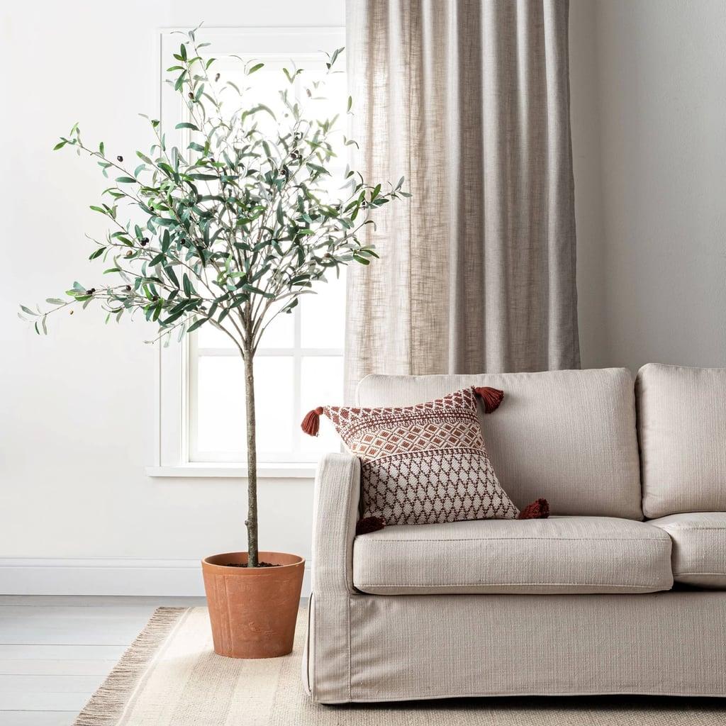 Pattern Throw Pillow in Beige / Rust