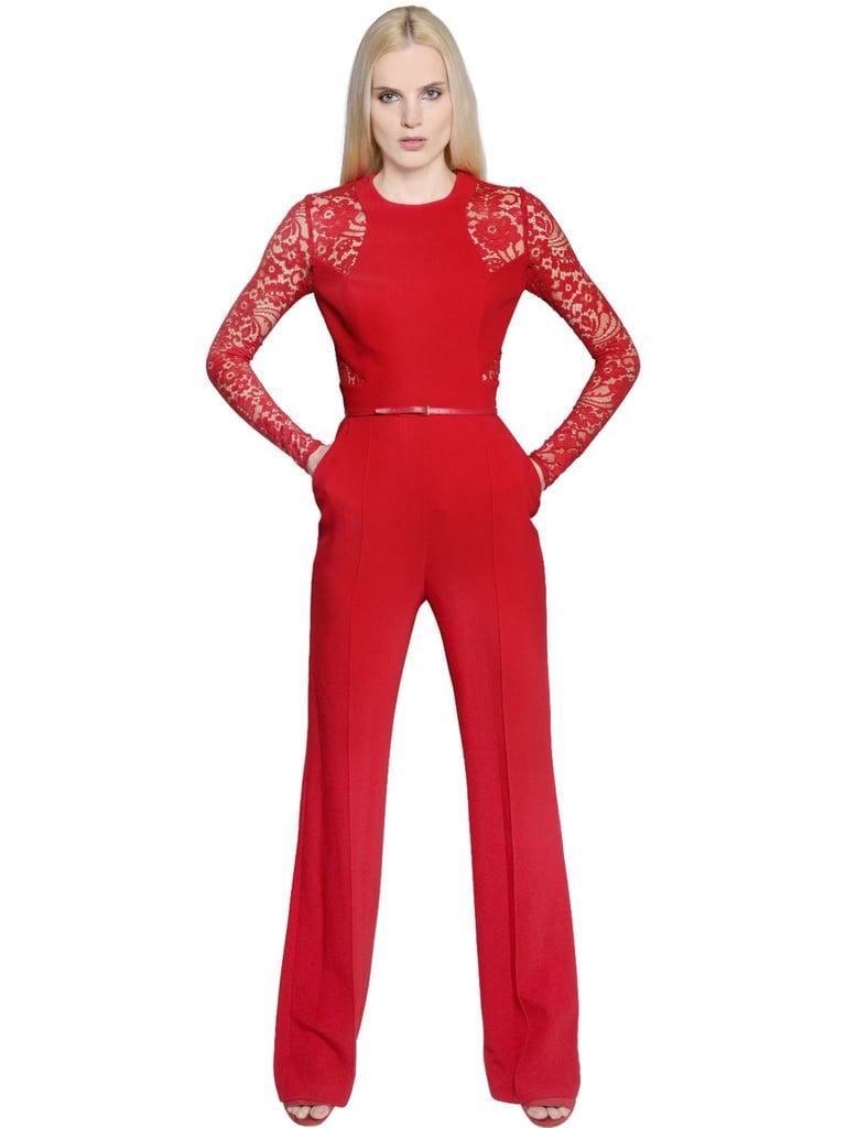 Elie Saab Lace & Crepe Cady Jumpsuit ($3,885)