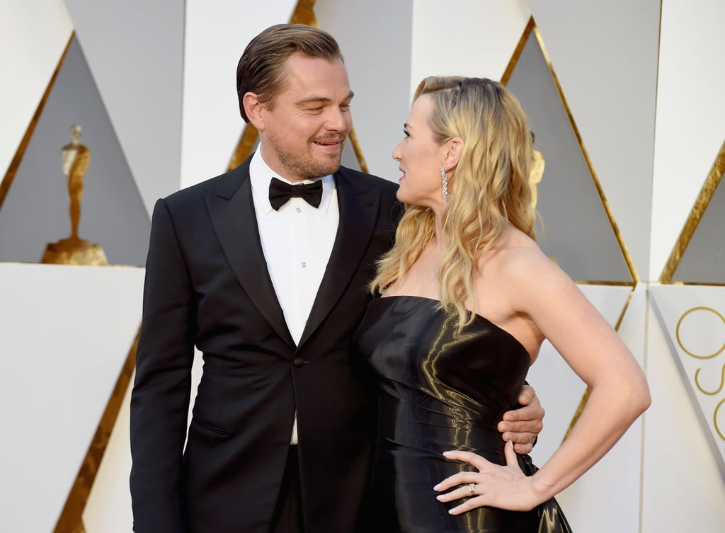 """It's been 20 years since Kate Winslet and Leonardo DiCaprio met on the set of Titanic, and while their first onscreen relationship ended tragically, Kate and Leo's love has lived on in the years since. The two stars, who shared the big screen again in 2008's Revolutionary Road, have remained close friends for more than two decades. In that time, they've had nothing but sweet things to say about each other — Leo has called Kate the """"best actor of her generation"""" — and smiley red carpet photo ops! Let's take a look at their amazing friendship through the years. It all started with Titanic in 1997. Kate and Leo turned 21 and 22, respectively, while making the movie. Their onscreen chemistry was undeniable, which Leo addressed in a 1997 interview with Entertainment Tonight: """"She's such a terrific person in general that our chemistry naturally happened on screen. We just like each other as people. As far as doing a love scene, though, we laughed about it a lot."""" Related: These Pictures of Kate and Leo Holding Hands Will Melt Your Iceberg of a Heart"""