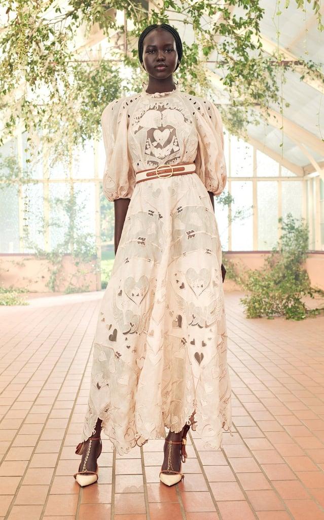 Zimmermann The Lovestruck Silk-Linen Lace Gown