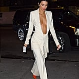 Kendall Rocked an Ivory Suit While Out and About in the Big Apple