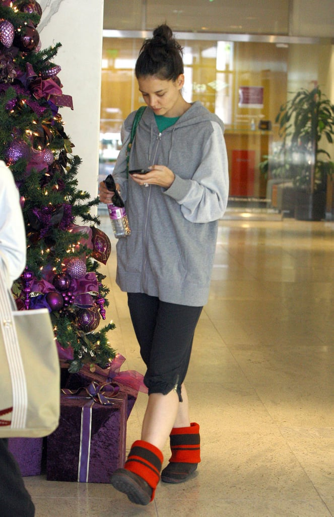 Pictures of Katie Holmes At The Gym on Christmas Eve in West Hollywood