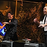 "Tom Cruise and Jimmy Fallon played ""Water War."""