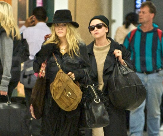 Photo Slide of Mary-Kate and Ashley Olsen at LAX