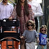 Camila Alves and Kids Keep Close to Matthew McConaughey in Manhattan
