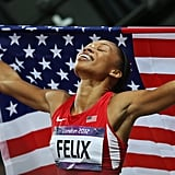 After two consecutive silvers, it was finally Allyson Felix's golden moment to shine in the 200m.