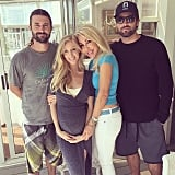 It was a family affair when the duo linked up with brother Brody Jenner and their mom, Linda Thompson, in May.