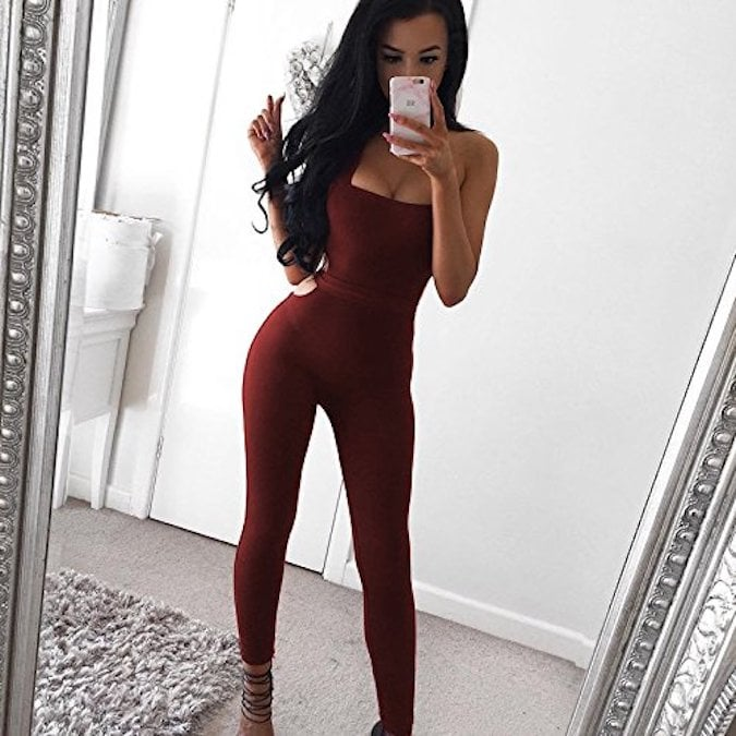 Longwu Halter Backless Bodysuit