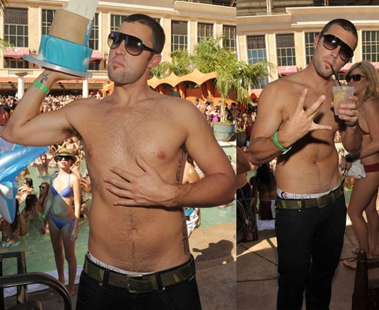 Shirtless Brody Jenner at his Birthday Party in Vegas