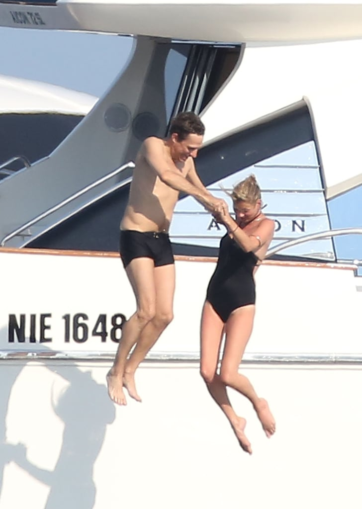 The couple took a dive together off a yacht during a vacation in the Mediterranean in July 2012.