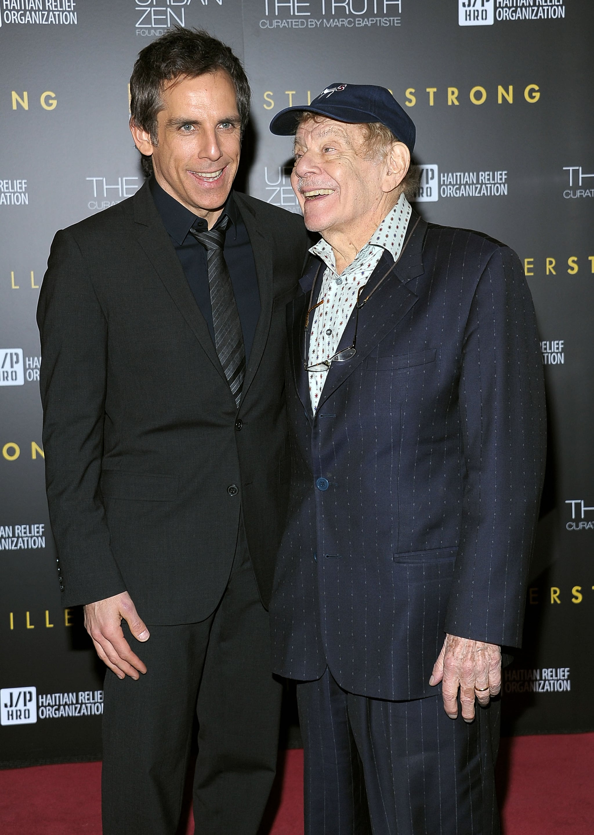 NEW YORK, NY - FEBRUARY 11: Ben Stiller and Jerry Stiller arrive at the HELP HAITI benefiting The Ben Stiller Foundation and The J/P Haitian Relief Organization at the Urban Zen Center At Stephan Weiss Studio on February 11, 2011 in New York City.  (Photo by Michael Loccisano/Getty Images)