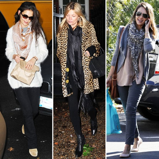 Celebrities Wearing Cute Scarves 2012
