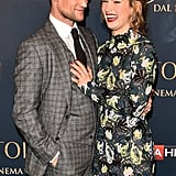 Matt Smith and Lily James at a Cinderella screening in Milan