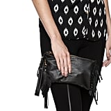 Fringe Leather Wristlet