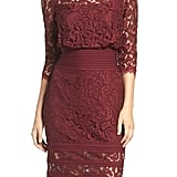 This Tadashi Shoji Pleated Waist Dress ($286) is perfect for an evening wedding.