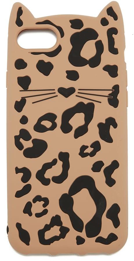 Kate Spade Silicone Cheetah Cat iPhone 7 Case / 8 Case