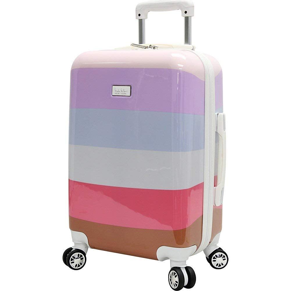 "Nicole Miller Rainbow 24"" Hard-Sided Luggage Spinner"