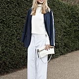 These long, loose trousers are a great alternative to skinny jeans.