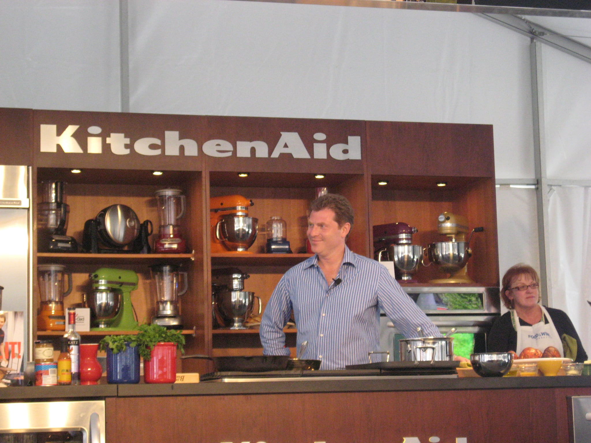 Bobby Flay performs.