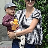Miranda Kerr and baby Flynn Bloom were all smiles while out and about in NYC.