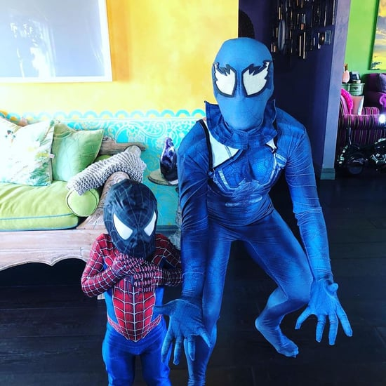 Pink and Her Son Jameson Dressed as Spider Man for Halloween