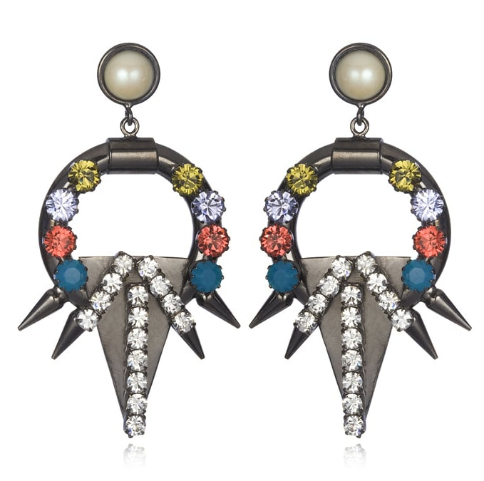 FALLON Future Compass Hoop Earrings ($188)