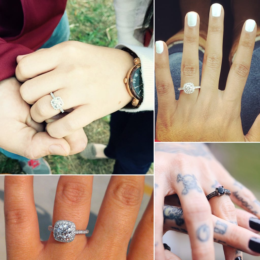 real girl engagement rings from instagram | popsugar australia
