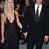 At the Vanity Fair Oscars Party in 2000, Jennifer wore a cleavage-baring black gown with a diamond choker necklace.