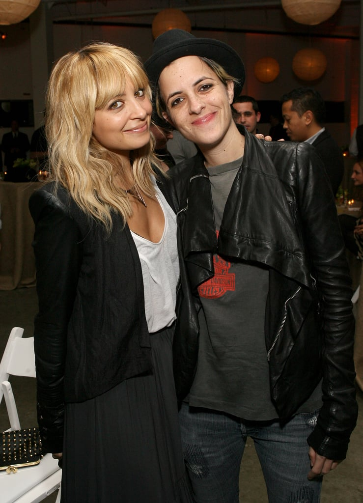 Nicole Richie and Samantha Ronson posed for the cameras.