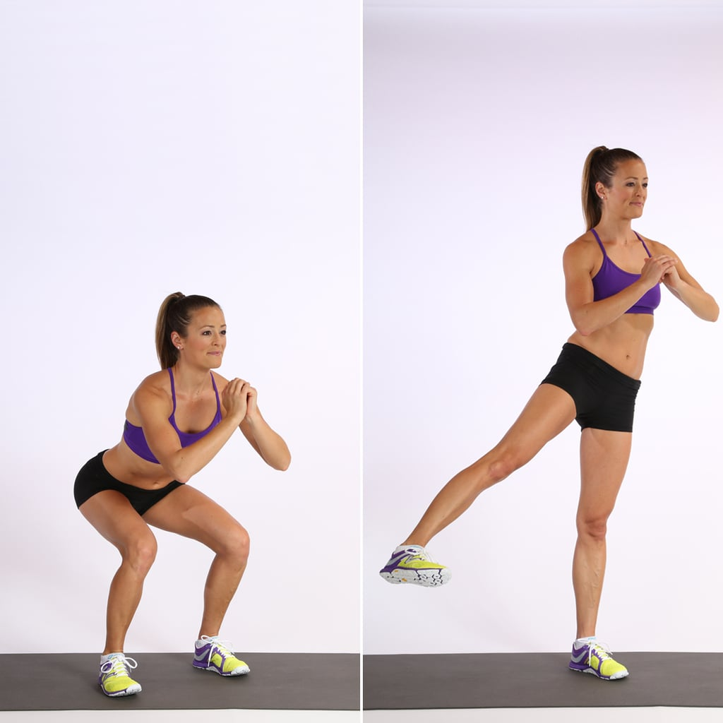 Circuit One: Squat With Side Leg Lift