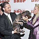 With Noomi Rapace and Zora the dog at The Drop New York premiere in 2014.