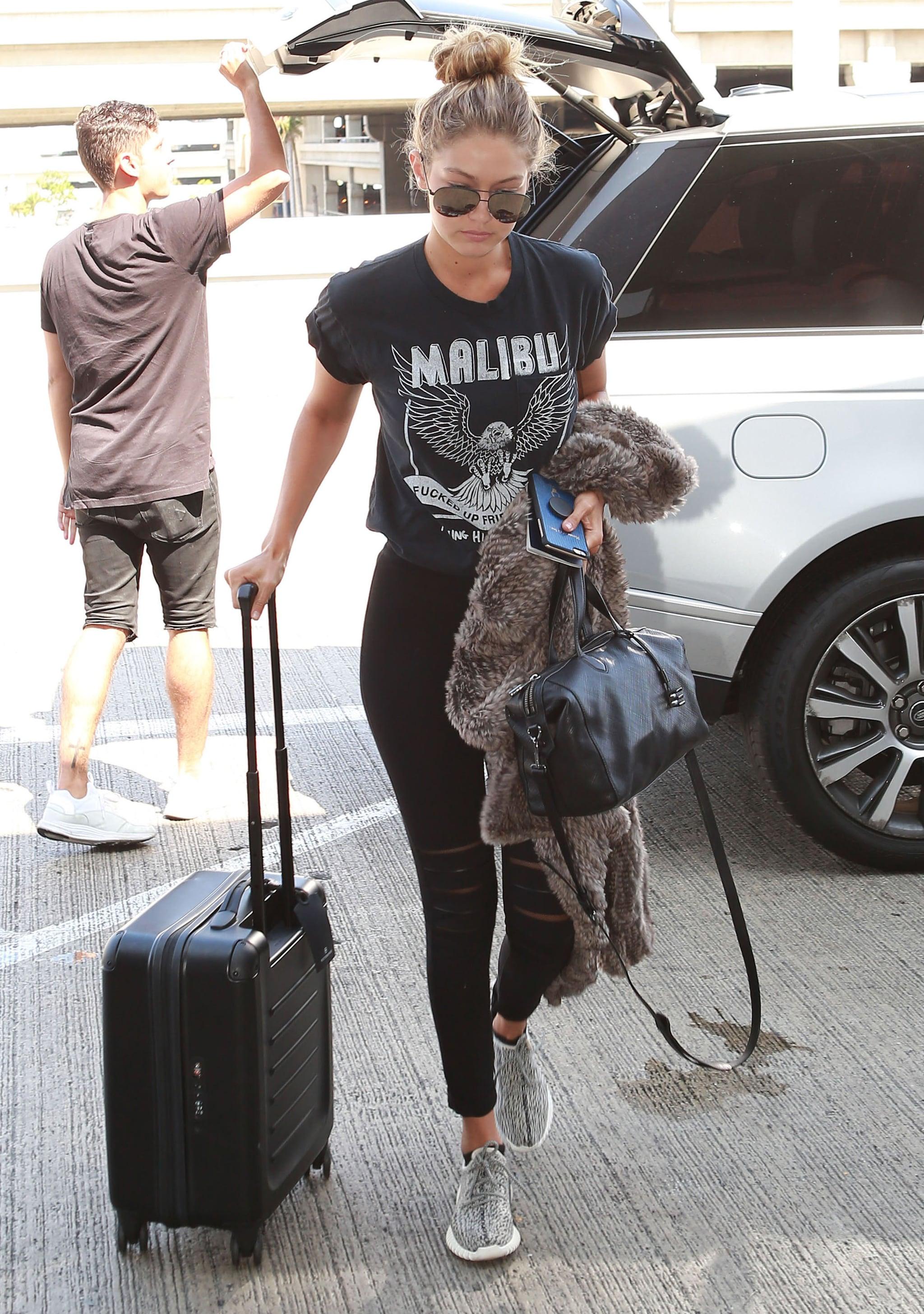 Gigi Hadid Wearing Sneakers   POPSUGAR