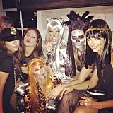 Alessandra Ambrosio hung out with costume-clad pals.