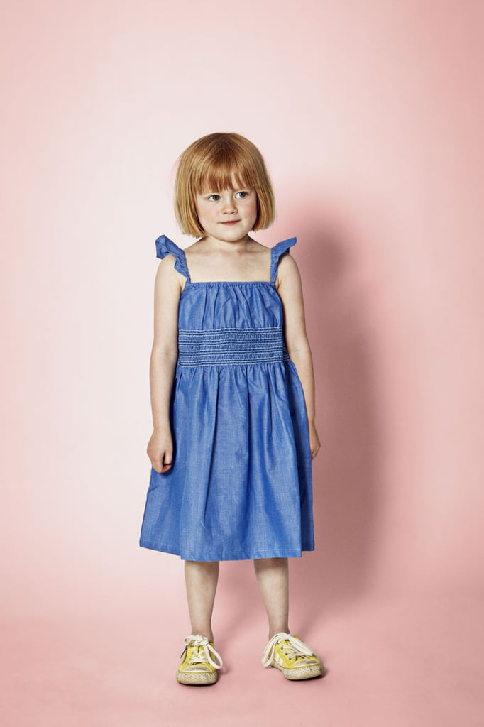 There's nothing easier than a smocked chambray sundress on a toasty Summer day.