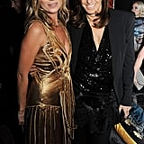 Kate Moss posed with Donna Karan at her book launch party in London.