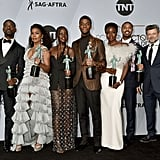 Danai Gurira, Sterling K. Brown, and the Cast of Black Panther at the 2019 SAG Awards
