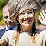 Queen Máxima on Neighbours' Day in Urk, The Netherlands.