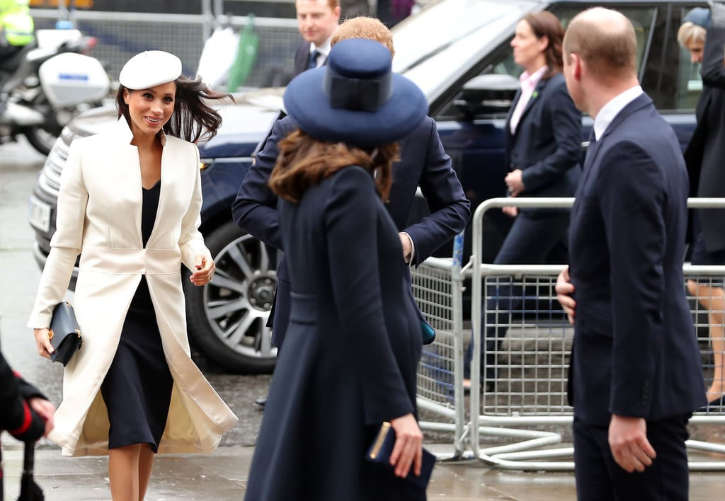 """When Meghan Made Her First Official Appearance With the Queen and William Checked on Her, Probably Saying, """"You Good, Meg?"""""""