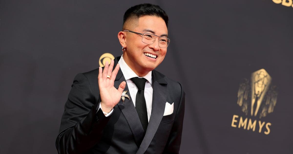I Would Happily Let Bowen Yang Clomp All Over Me in His Metallic Emmys Platform Heels.jpg