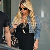 Jessica Simpson in LA amid pregnancy rumors.
