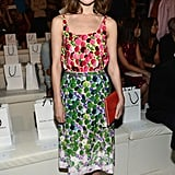 Rose Byrne selected a lovely printed dress from Marc Jacobs for the designer's show.
