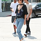 Kendall Paired Her Shirt With White Boots