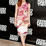 Jessica Chastain brought a touch of Spring florals (that are equally chic for Winter) to the Zero Dark Thirty photocall in NYC on her sweet Preen sheath.
