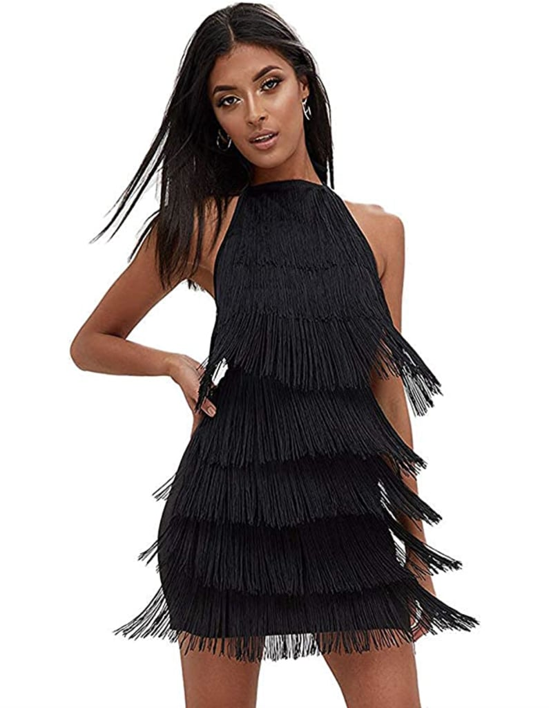 The '20s Came Calling: L'Vow Tassels Strap Dress