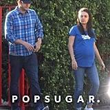 Mila Kunis and Ashton Kutcher Walking in LA October 2016