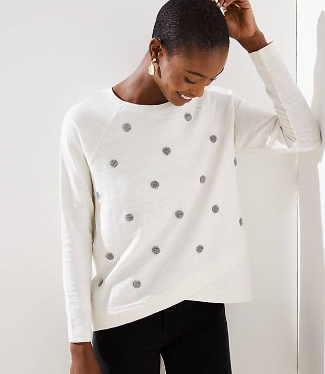 Dot Crossover Sweatshirt