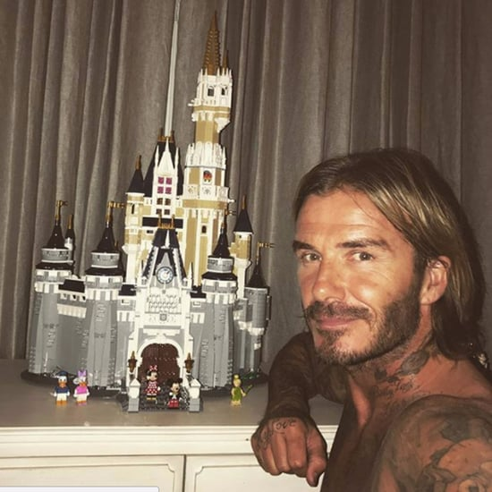 David Beckham Builds Lego Disney Castle