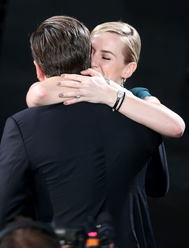 Leonardo DiCaprio and Kate Winslet shared a tender moment in 2016.